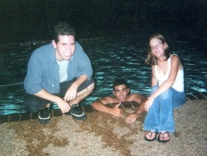 With Mark Chaban and Cassie Bucci, Summer 2002