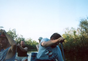Canoeing near Arcadia, November 2004